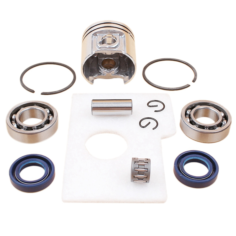 Motor Piston Crankshaft Oil Seal Bearing Air Filter Kit For Stihl Ms180 Ms 180 018 Chainsaw Spare Parts 38MmMotor Piston Crankshaft Oil Seal Bearing Air Filter Kit For Stihl Ms180 Ms 180 018 Chainsaw Spare Parts 38Mm