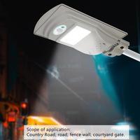 20W LED Outdoor Solar Light Lighting For Garden Waterproof Motion Sensor Solar Wall Lights Street Lamp + Remote