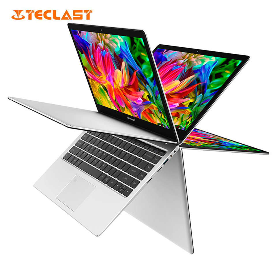 Teclast F6 / Teclast F6 Pro Notebook 13.3 Inch 8GB/128GB SSD Intel Core M3-7Y30 Fingerprint Recognition Silver Gaming Laptop
