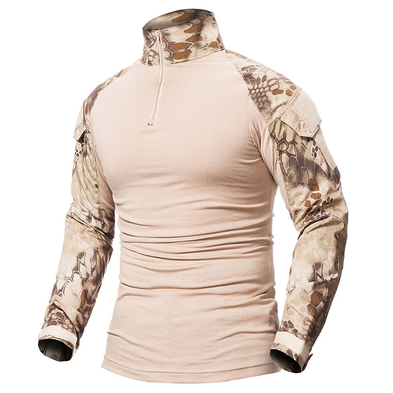 9 Colors Outdoor Fishing Sports T-shirt Men Long Sleeve Hunting Tactical Military Army Shirts Uniform Hiking Breathable Clothing 4