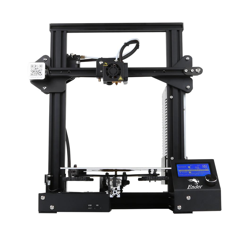 Kit de impresora Creality Ender 3 de escritorio 3D impresora Prusa I3 DIY 220x220x250mm MK8 extrusora 1,75mm 0,4mm boquilla de impresión - 3