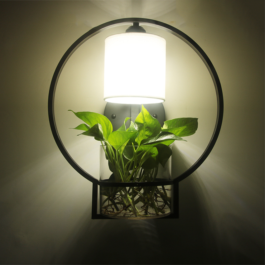 New Chinese Modern Compact LED Wall Lamp Personality Restaurant Bedroom Corridor Lamp Bedside Hydroponic Plant Wall LampNew Chinese Modern Compact LED Wall Lamp Personality Restaurant Bedroom Corridor Lamp Bedside Hydroponic Plant Wall Lamp