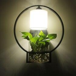 Nowa chińska nowoczesna kompaktowa lampa ścienna LED osobowość restauracja sypialnia lampa korytarz lampka nocna hydroponicznych ściana roślin