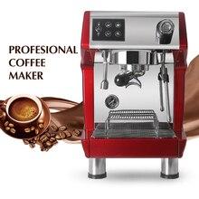 GZZT Commercial Semi-automatic Coffee Maker Italian Espresso Machine Black And Red Color Cafe 220V