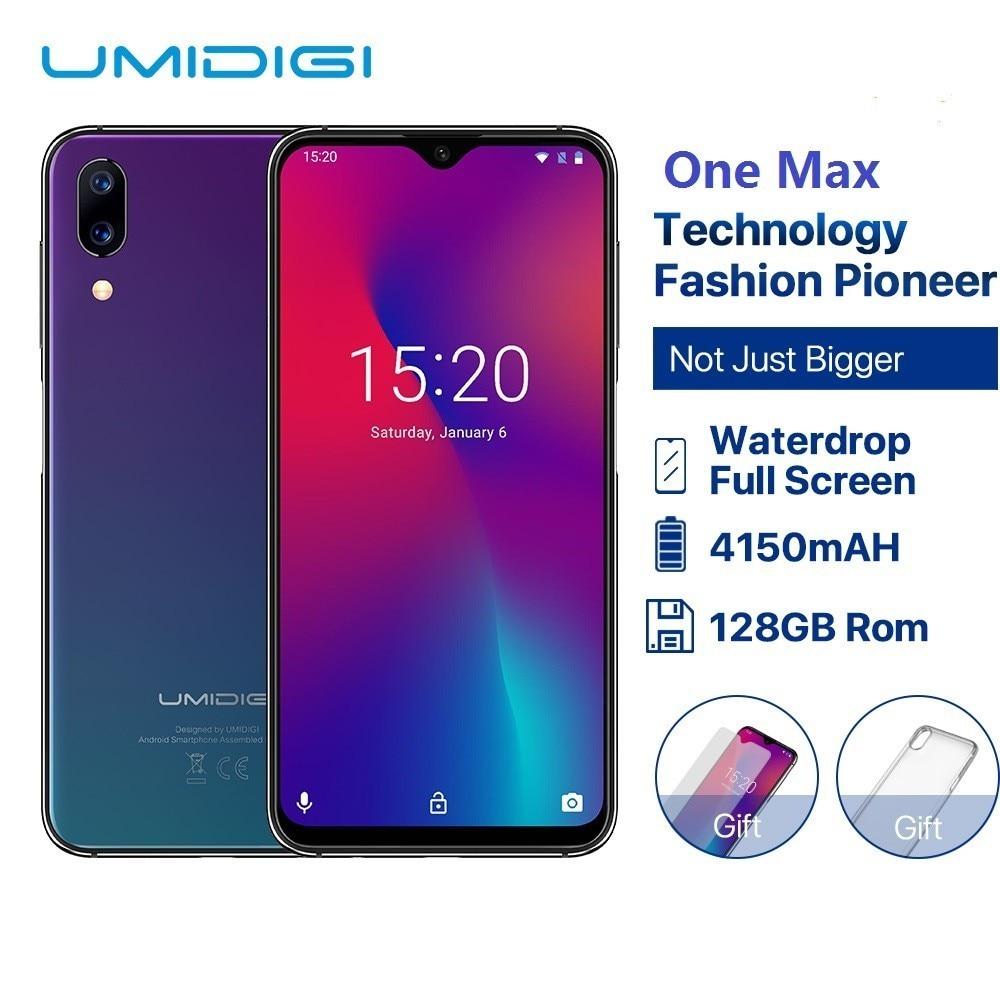 "UMIDIGI One Max Global Version 4GB 128GB 6.3"" Waterdrop Full-Screen 4150mAh Dual Camera Smartphone NFC Wireless Charging Face ID"