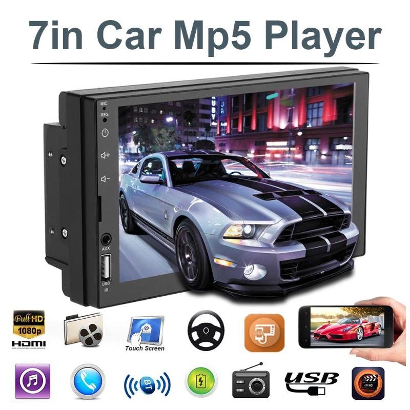 VODOOL 7703B 2Din 7inch Touch Screen Car Stereo MP5 Multimedia Player FM Radio Bluetooth Head Unit