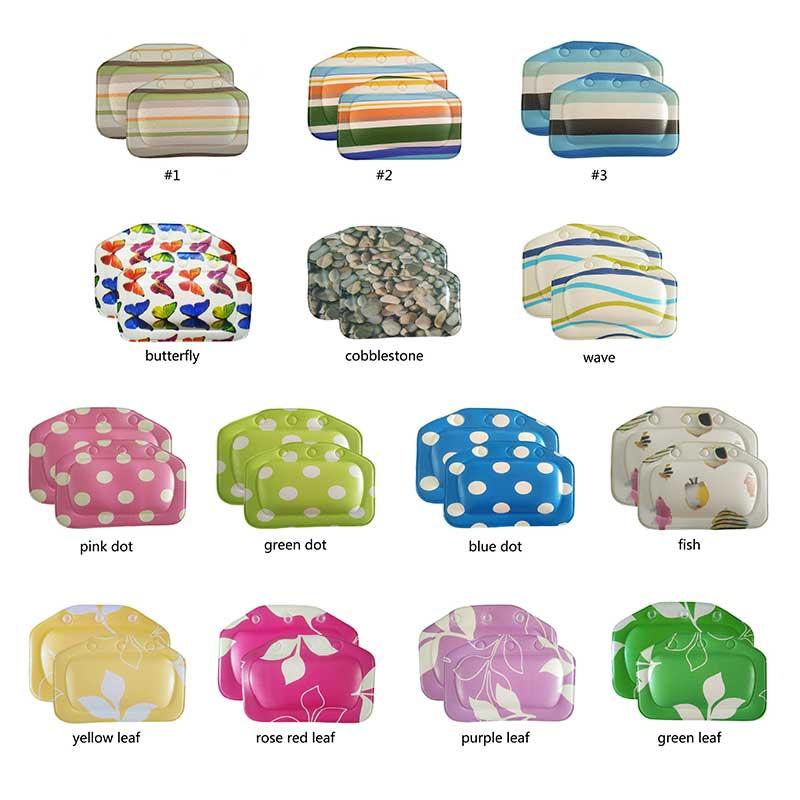 PVC Foam Bathroom Accessories Spa Bath Pillows Bath Pillow 1PC Waterproof Sponge Head Cushion Tub Headrest Bathtub Pillow