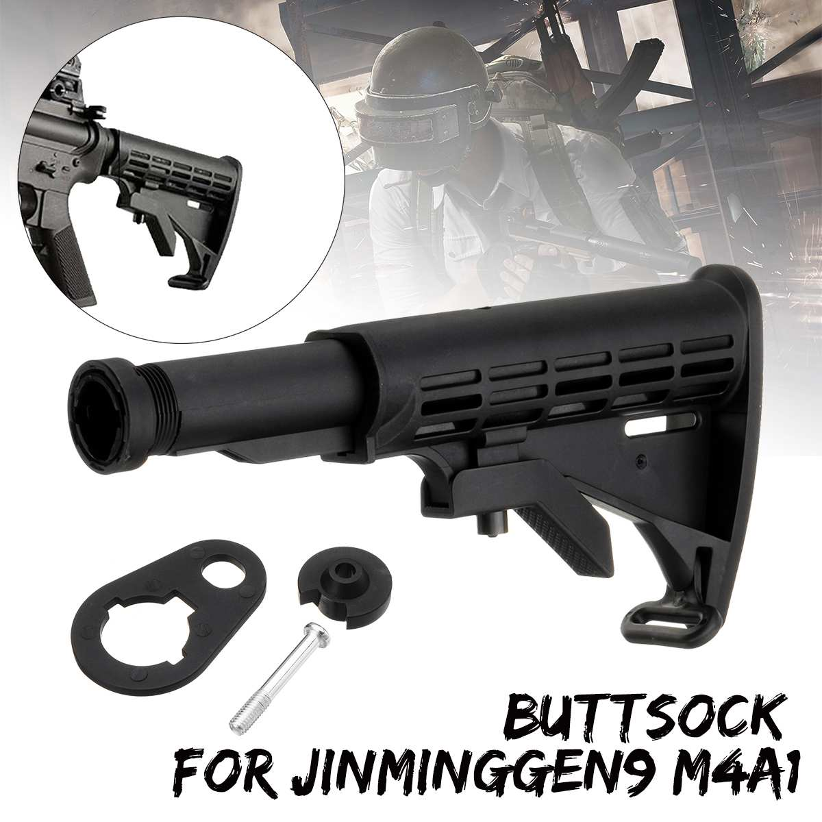 Buttsock Buffer Tube Jinming Gen9 M4a1 Gel Ball For Blaster Toy Upgrade Accessory