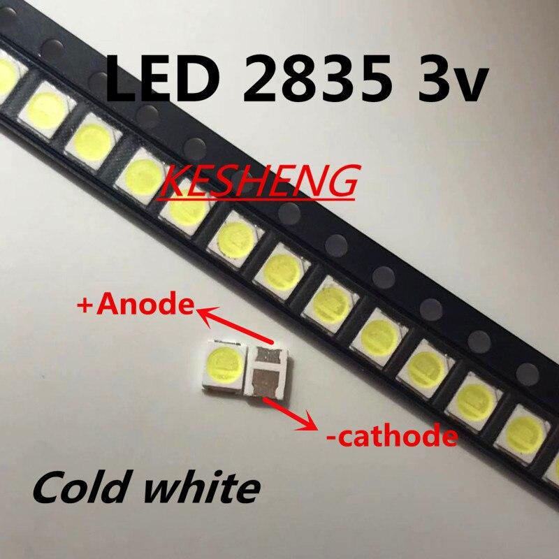 100 pces jufei led backlight 1210 3528 2835 1 w 3 v 107lm branco fresco lcd backlight para tv aplicação 01. JT.2835BPWP2-C