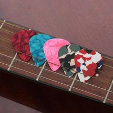 5 Pcs Celluloid Guitar Picks Set Multi Colorful Shrapnel Plucked String Instrument Accessories For Music Kit