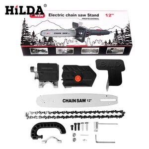 Image 5 - HILDA piły elektryczne wielofunkcyjny Adapter konwerter uchwyt DIY zestaw do 12 elektryczna szlifierka kątowa narzędzie do drewna M10/M14