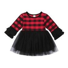 Christmas Newborn Baby Dress Toddler Girls Princess Cotton P