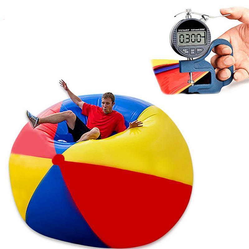 80 cm/100 cm/150 cm Riesigen Aufblasbaren Strand Ball Große Drei-farbe Verdickt Pvc Wasser Volleyball fußball Party Im Freien Kinder Spielzeug