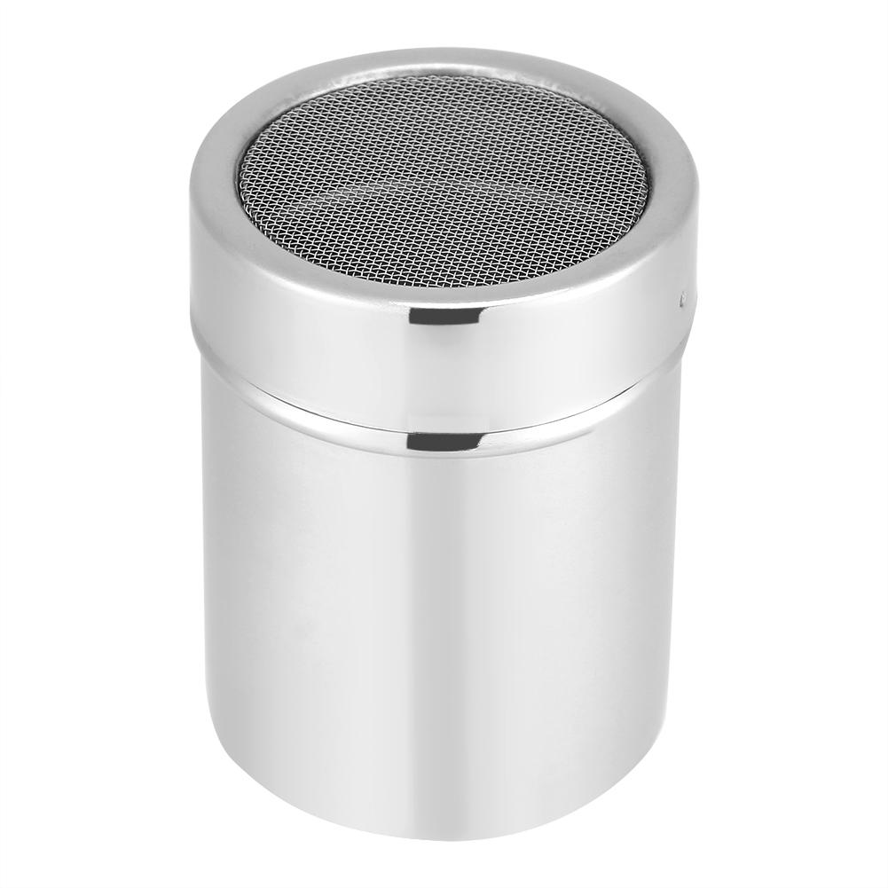 Chocolate Shaker Cocoa Flour Icing Sugar Powder Coffee Sifter Lid Stainless Steel Shaker Cooking Tools Coffee Accessories