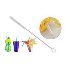 10Pcs/Set Reusable Straw Cleaning Brushes Stainless Steel Wash Drinking Pipe Brush Cleaner Household Kitchen Accessories