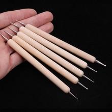 Шариковые шарики из нержавеющей стали с двумя головками, Шариковые инструменты для моделирования, полимерная глина, маникюрные ручки, инструменты для маникюра, инструменты для раскрашивания керамической глины