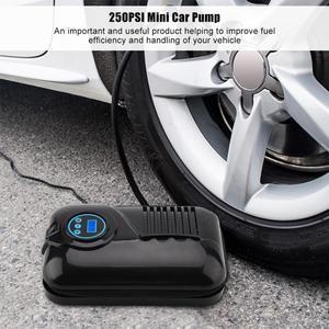 Image 5 - سيارة صغيرة محمولة مضخة 12 فولت 250PSI سيارة مضخة الإطارات نافخة الإطارات ضاغط الهواء الكهربائي قدرة عالية الرقمية نافخة الإطارات