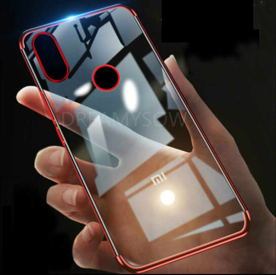 3in1 Color Silicone Case untuk Xiaomi CC9E Mi9 9SE Redmi Pergi 7 Tpu Lembut Bening Cover Redmi Note 8 7 6 PRO 6 6A Plating Phone Case