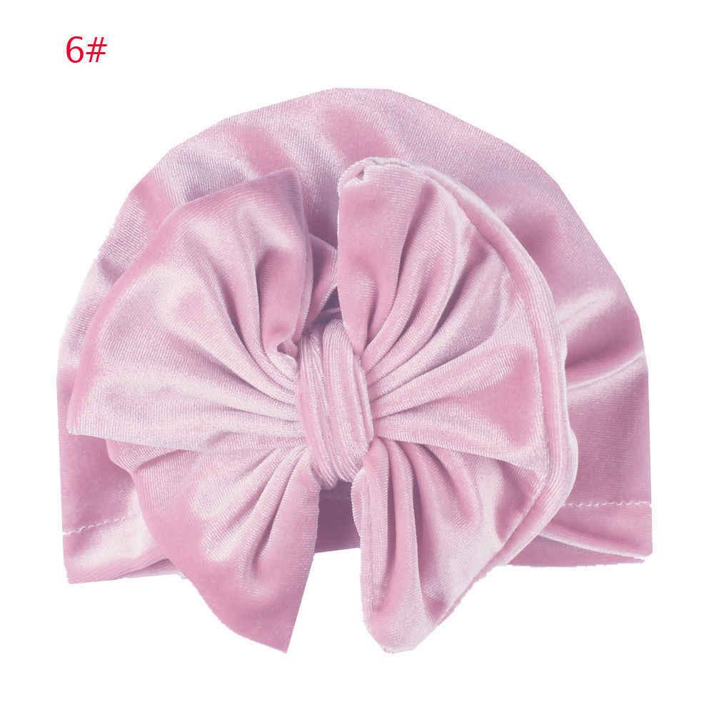 2018 Nova Marca Infantil Do Bebê Recém-nascido Meninas Meninos Bow Headband do Bowknot Cap Chapéu Criança Crianças Envoltório Cabeça Turbante Hijab Presentes 11 cores