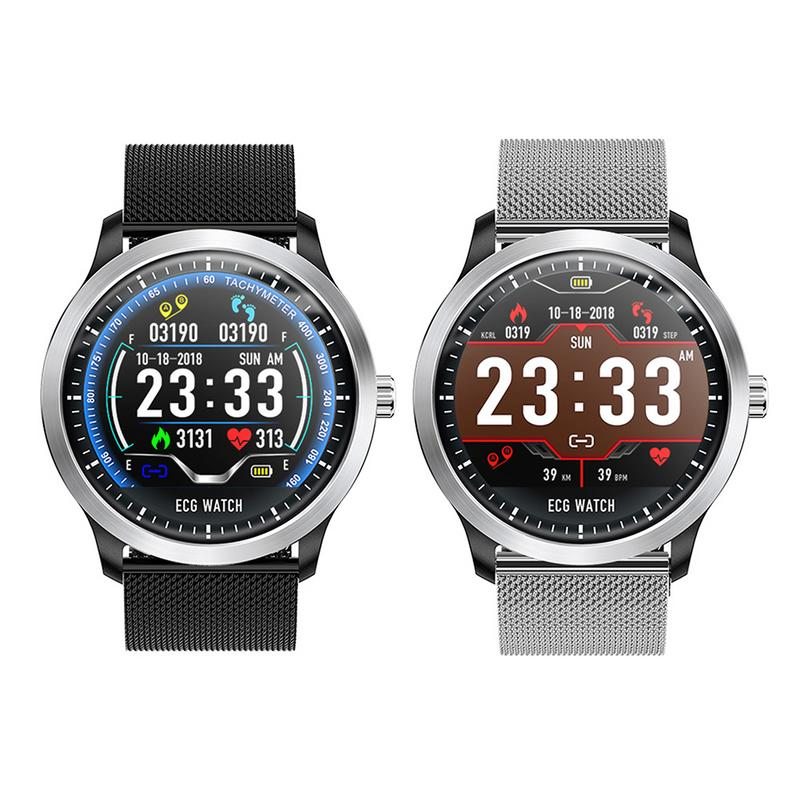 N58 Smartwatch Waterproof ECG+PPG ECG HRV Report Heart Rate Blood Pressure Test Color Screen Smart Wristband Drop Shipping