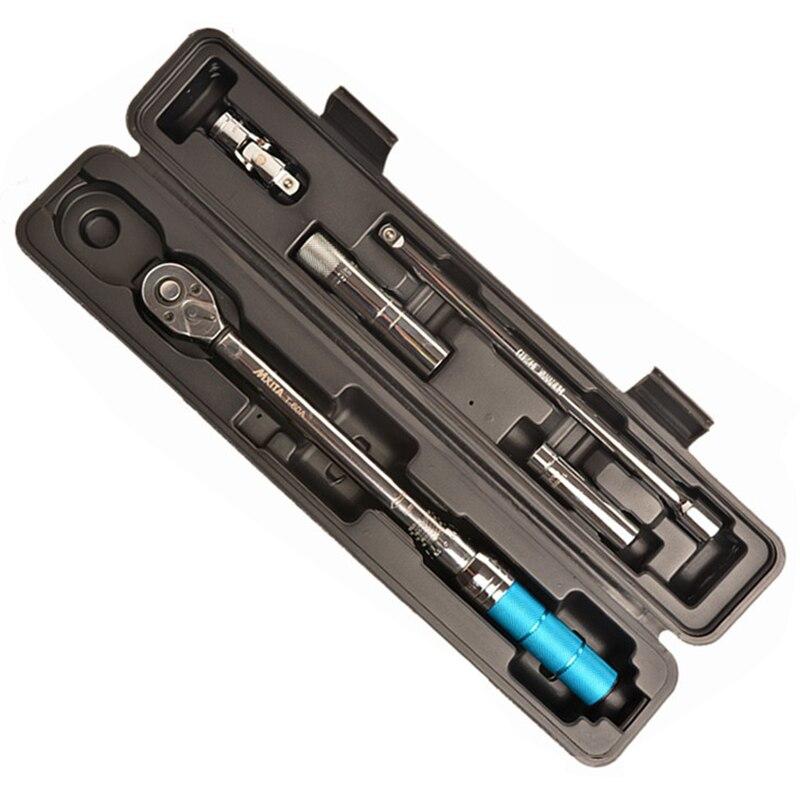 Nova MXITA 5 pcs 3/8 5-60NM Classe Industrial Plugue Magnético Conjunto Ferramenta de Reparação de Bicicletas Chave de Torque Ajustável