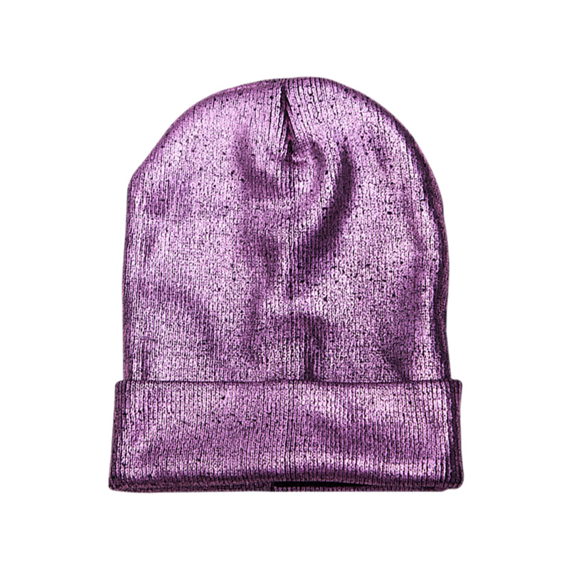 Women Knitted Hat Warm Ear Protection Crochet Winter Glittering Caps Knitted Beanies Cap Thick Female Caps Beanie