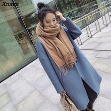 Casual Vintage Womens Long Coats 2018 Winter Fashion Warm Slim Wool Blend Coat and Jacket Solid Single Button Ladies Coats Xnxee цены онлайн