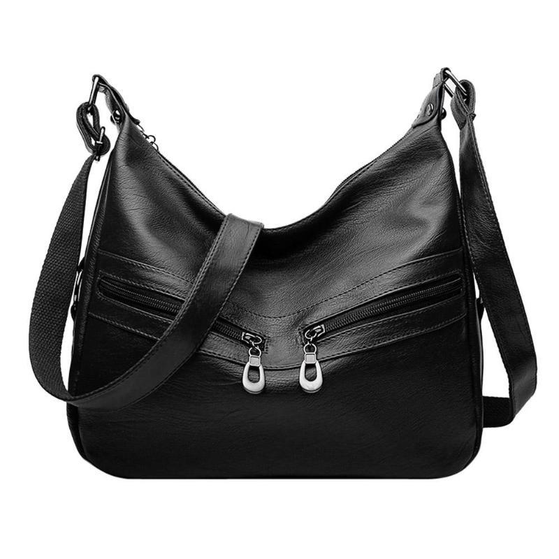 f33bf0b357c9 Women Hobos Handbag Brand Fashion Zipper PU Leather Shoulder Bag Elegant  Ladies Messenger Bag Female Totes Shopping Bags
