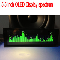 Professional 5.5 inch OLED Screen Music Spectrum Audio Level Display balance indicator VU METER FOR 12V Car amplifier