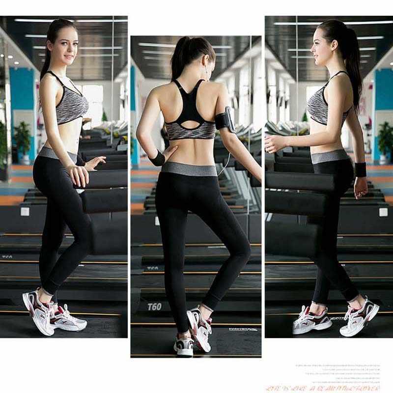 Быстросохнущий Спортивный бюстгальтер VEQKING с подкладкой, Женский бесшовный регулируемый спортивный бюстгальтер для фитнеса, бесшовный бюстгальтер с пуш-ап для бега и йоги