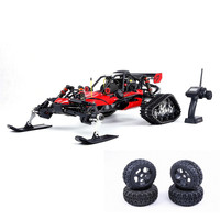 New Arrival Rovan Baja305AS 1/5 2.4G RWD Snow Buggy Rc Car 30.5cc Engine With Tracked + Round Wheels RTR Toy Kids For Gifts