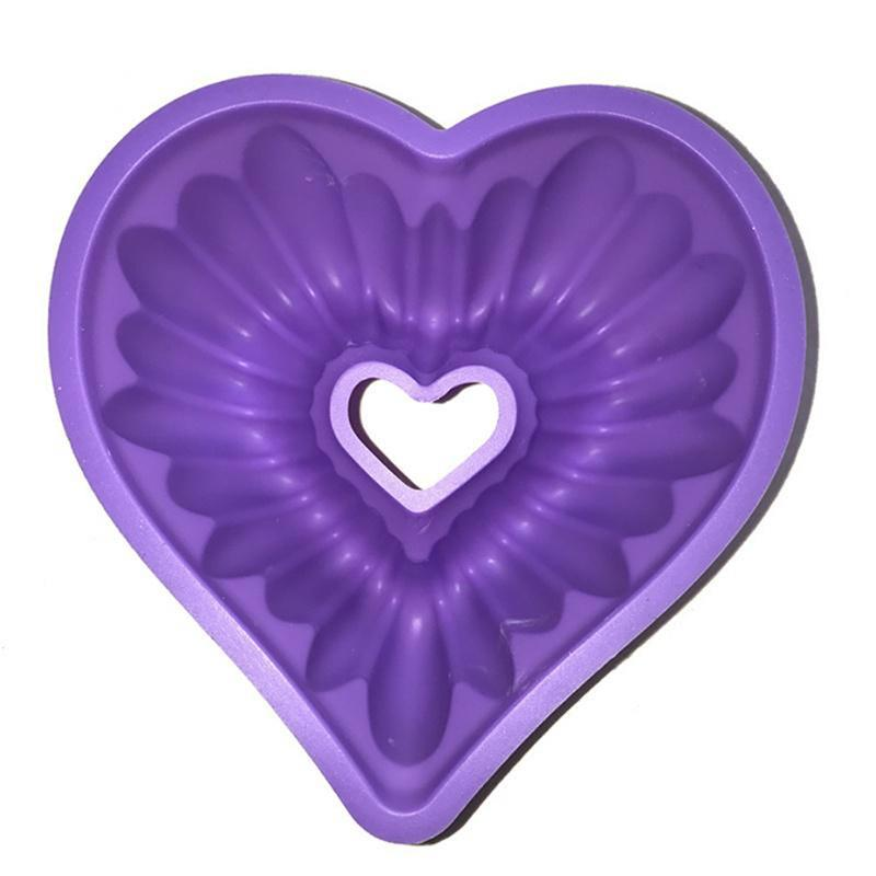 Heart Silicone Non-Stick Cake Tin 3