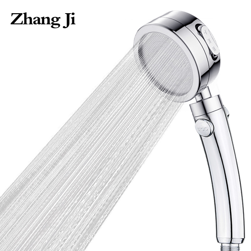 ZhangJi Electroplated 3 Adjustable Mode with Stop Button Switch shower head ABS Water saving high pressure Showerheads NozzleZhangJi Electroplated 3 Adjustable Mode with Stop Button Switch shower head ABS Water saving high pressure Showerheads Nozzle