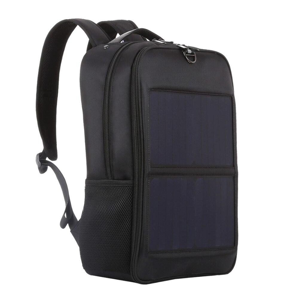 Ikona Haweel panel słoneczny plecaki wygody ładowania torby na laptop do podróży 14W słoneczna ładowarka z uchwytem i podwójnym portem USB charge w Plecaki od Bagaże i torby na  Grupa 1
