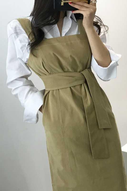LANMREM 2019 Новая летняя модная женская одежда без рукавов Свободные ремни платье с молнией сзади длинное платье на бретельках женское платье Vestido ZA49501