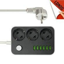 911ecc95b7b016 LDNIO Smart ЕС электрическая штепсельная розетка удлинитель 3 AC мощность  полосы с 6 USB зарядное устройство