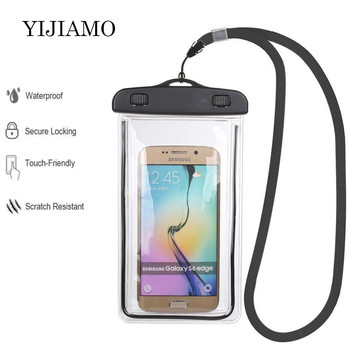 Universal Waterproof Mobile Phone Case For iphone Underwater Shell Cell Phone Swimming Pouch Clear Sealed Cover For Samsung S10 image