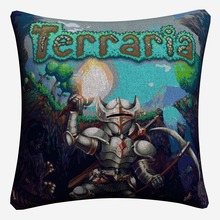Terraria Video Game Artwork Decorative Cotton Linen Cushion Cover 45x45 cm For Sofa Chair Pillowcase Home Decor Almofada цены