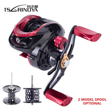 цена на TSURINOYA 6.6:1 Hight Quality Ulttra Light Bait Casting Reel Left Right Hand 2 Model Metal Spool Baitcasting Reel Fishing Reels