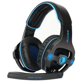 Sades Sa903 Gaming Headphone With Mic Noise Cancelling Usb 7.1 Surround Stereo Gaming Headset Earphones For Laptop Pc Gamer