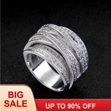 Victoria Wieck Lovers Jewelry Pave set 140pcs AAAAA zircon cz wedding band rings for women White Gold Filled Female Ring(China)