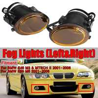 A Pair Amber E46 E39 Car Front Fog Light Assembly For BMW E46 M3 & MTECH II & E39 M5 2001 2006 No Bulbs Fog Lamp Light Housing