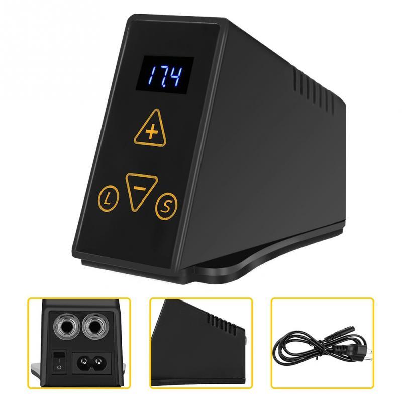 2 Types Mini numérique LCD tatouage Machine noir alimentation pour Machine à tatouer pédale de pied outils de maquillage permanents fournitures