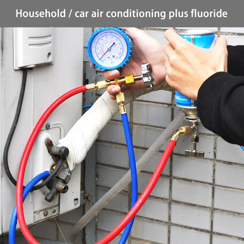 Image 5 - NEW Style R22 Refrigerant Household Car Air Conditioning Fluoride Adding Tool Kit Freon Common Cool Gas Meter-in Air-conditioning Installation from Automobiles & Motorcycles