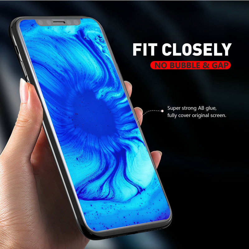 Senior 5D Full Transaprent Cover Tempered Glass Screen Protector for iPhone X Xs Max Xr 8