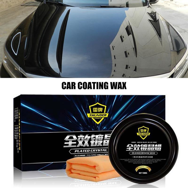 Car Care Premium Carnauba Car Wax Crystal Hard Wax Paint Care Scratch Repair Maintenance Wax Paint Surface Coating Free Sponge