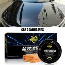 Car Care Premium Carnauba Car Wax Crystal Hard Wax Paint Care Scratch Repair Maintenance Wax Paint Surface Coating Free Sponge car coating wax for light colored vehicles 300 g