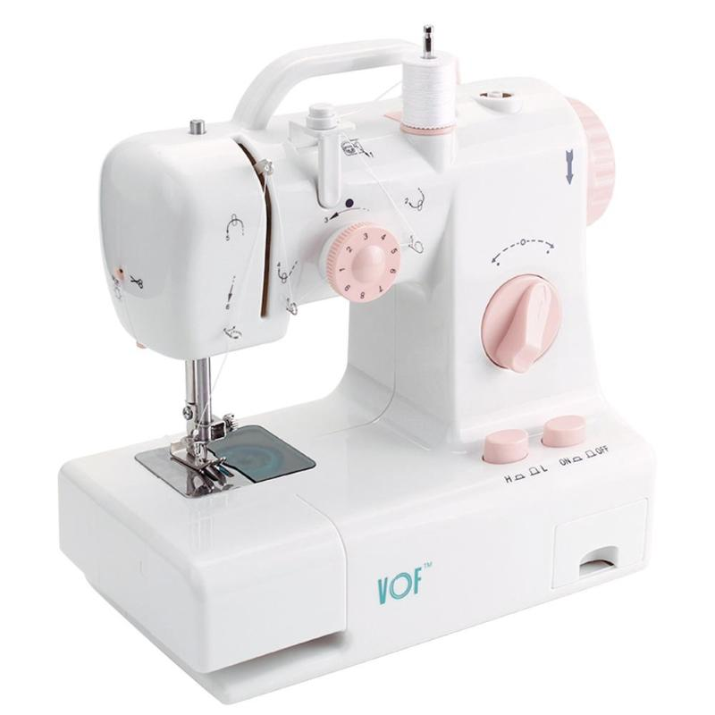 Mini Handheld Pedal Sewing Machines Dual Speed Double Thread Multifunction Electric Automatic Tread Rewind Sewing Machine