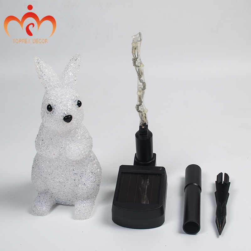Güneş festivali peyzaj aydınlatma tavşan/noel baba/kardan adam LED lamba bahçe aydınlatma dekorasyon açık noel ışıkları
