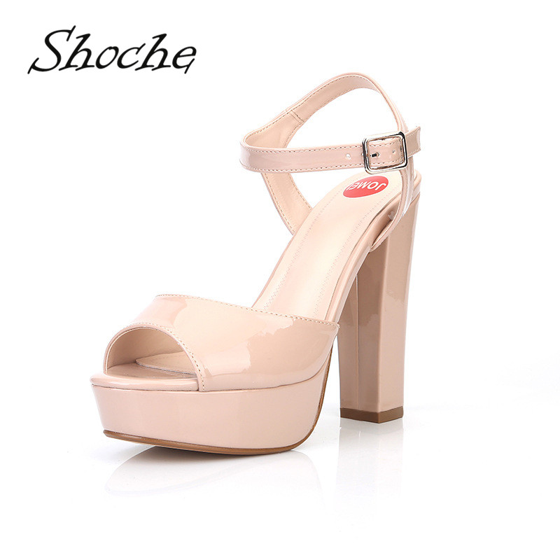 New Women/'s Ladies Slingback Peeptoe Party Platform High Block Heel Shoes Sandal